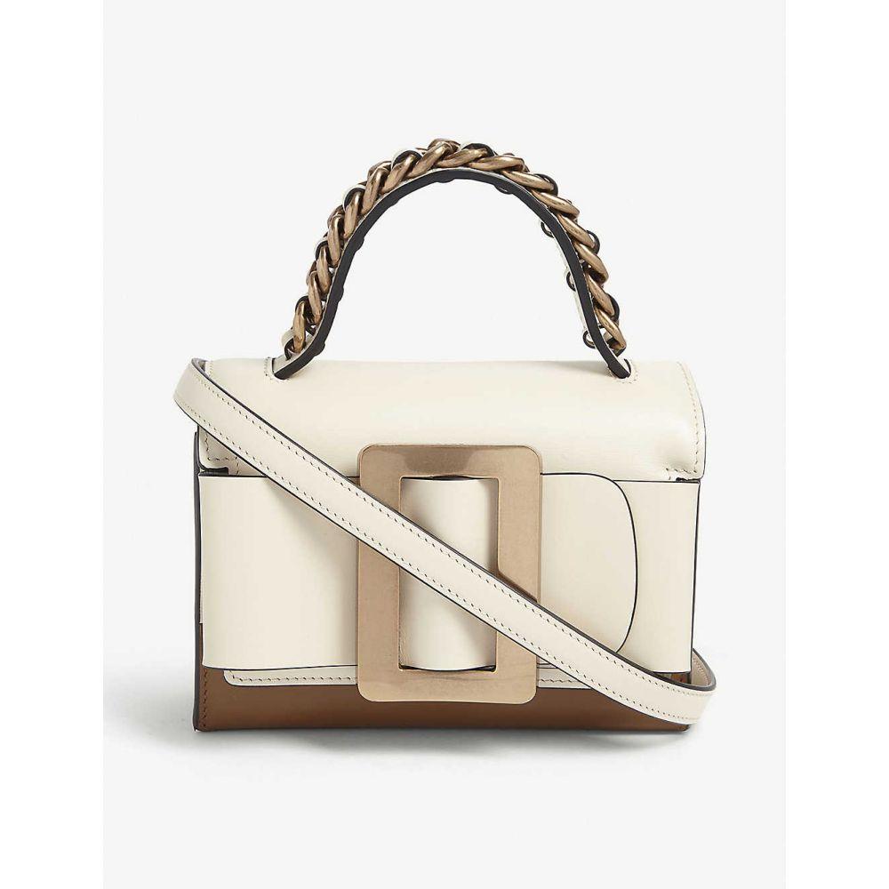 ボーイ BOYY レディース ハンドバッグ バッグ【Fred leather shoulder bag】Parchment Tobacco Gld