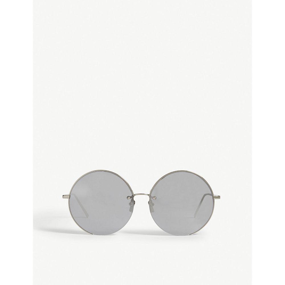 リンダ ファロー LINDA FARROW レディース メガネ・サングラス ラウンド【LFL626 round-frame sunglasses】White gold