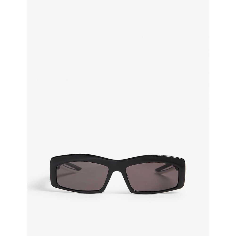 バレンシアガ BALENCIAGA レディース メガネ・サングラス 【Hybrid Rectangle acetate sunglasses】Black