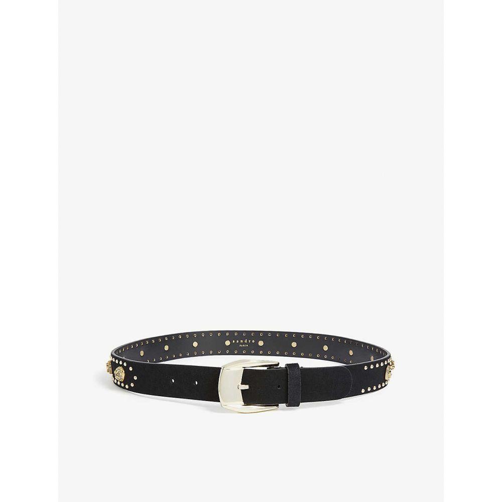 サンドロ SANDRO レディース ベルト 【Chrisly studded leather belt】Black