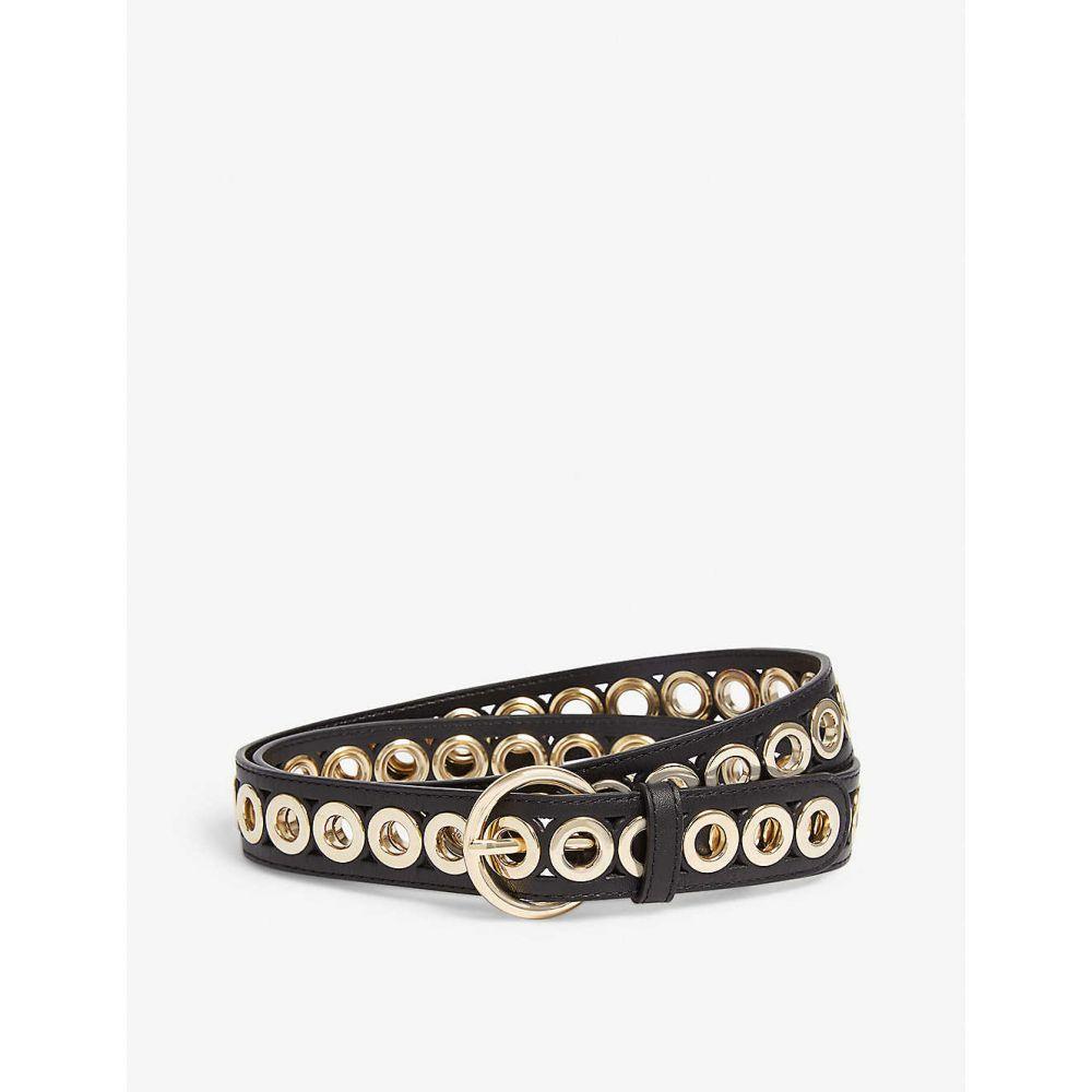 サンドロ SANDRO レディース ベルト 【Adelia studded leather belt】BLACK