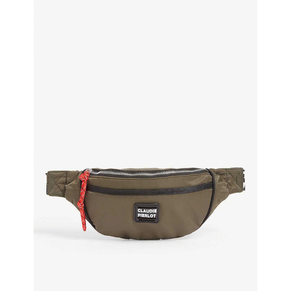 クローディ ピエルロ CLAUDIE PIERLOT レディース ボディバッグ・ウエストポーチ バッグ【Ajoy nylon belt bag】Kaki army