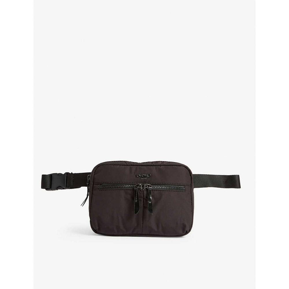 クノモ KNOMO レディース ボディバッグ・ウエストポーチ バッグ【Dalston Palermo belt bag】Black