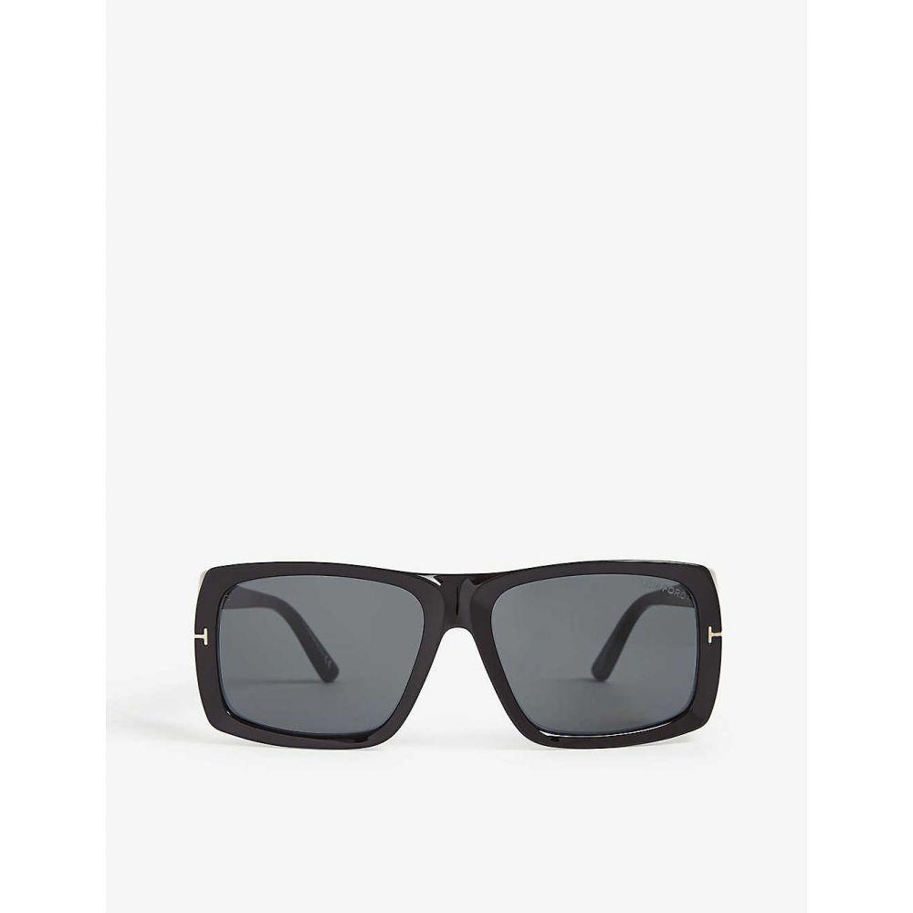 トム フォード TOM FORD レディース メガネ・サングラス スクエアフレーム【Rizzo FT0730 square-frame sunglasses】BLACK