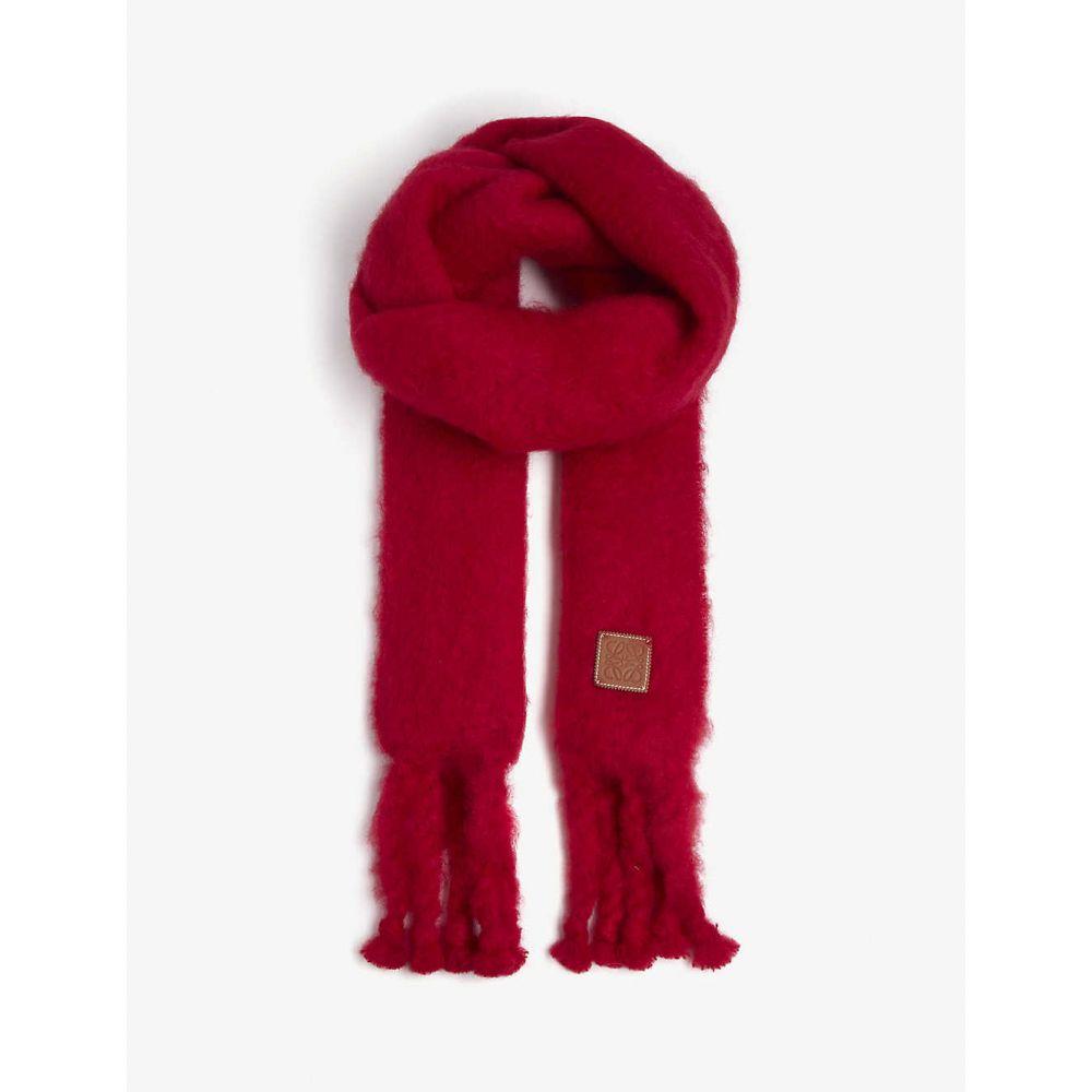 ロエベ LOEWE レディース マフラー・スカーフ・ストール 【Chunky mohair scarf】Raspberry