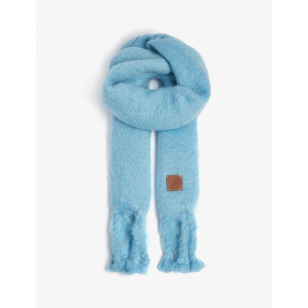 ロエベ LOEWE レディース マフラー・スカーフ・ストール 【Chunky mohair scarf】Turquoise