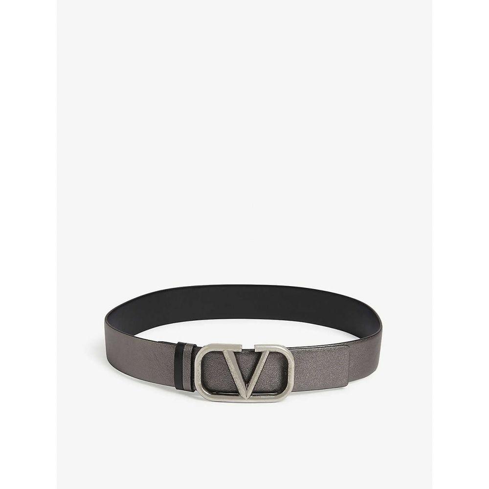 ヴァレンティノ VALENTINO レディース ベルト 【'V' Logo leather belt】Silver