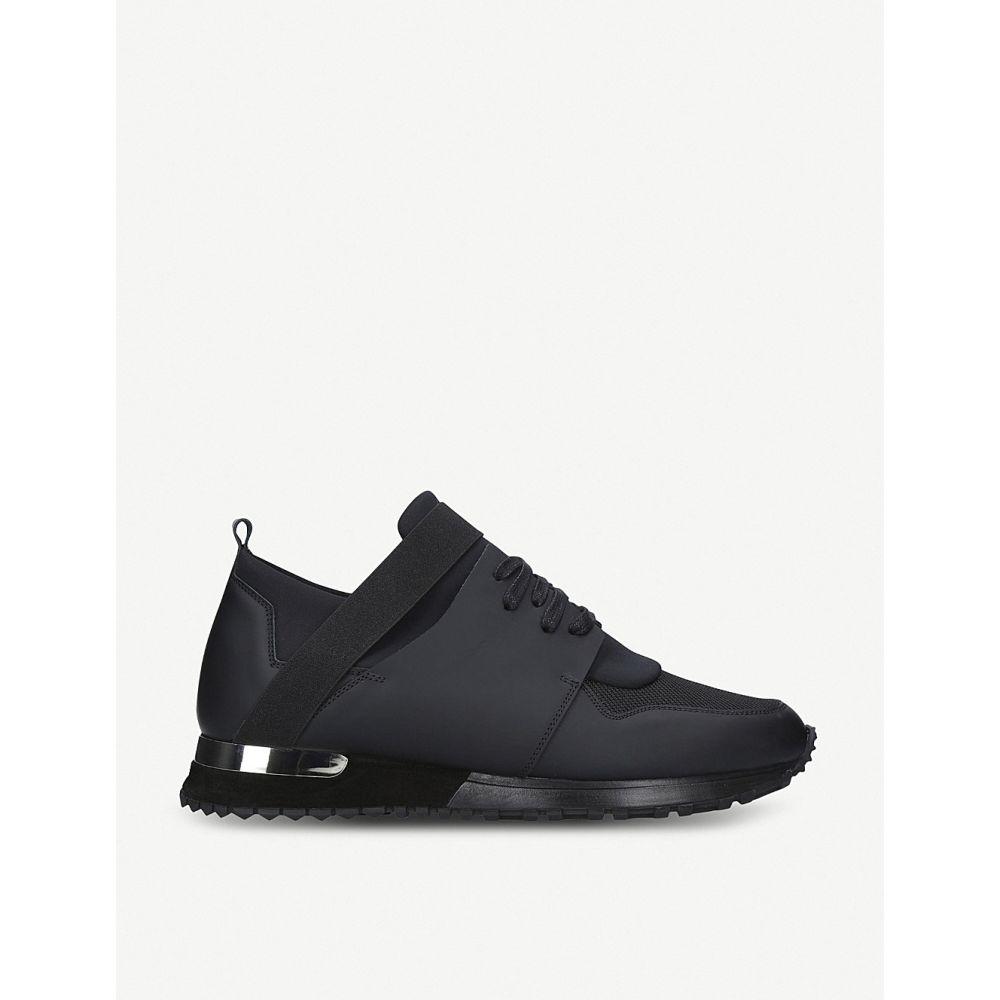 マレット MALLET メンズ スニーカー シューズ・靴【Elast leather trainers】BLACK