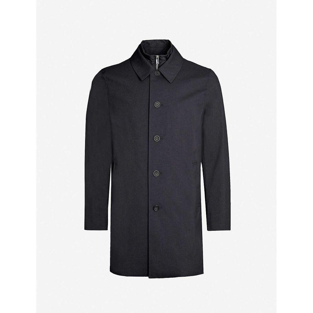 リース REISS メンズ コート アウター【Perrin detachable-underlay shell coat】Navy