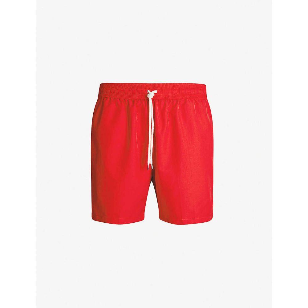 ラルフ ローレン POLO RALPH LAUREN メンズ 海パン ショートパンツ 水着・ビーチウェア【Traveller logo-embroidered swim shorts】Rl red