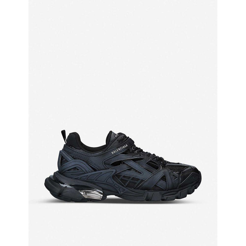 バレンシアガ BALENCIAGA メンズ スニーカー シューズ・靴【Track 2.0 leather and mesh trainers】Black