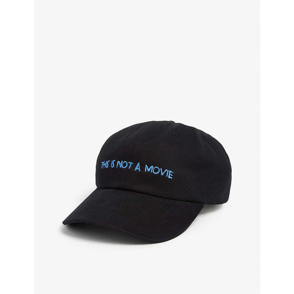 ナサシーズンズ NASASEASONS メンズ キャップ ベースボールキャップ 帽子【This Is Not A Movie cotton baseball cap】BLACK