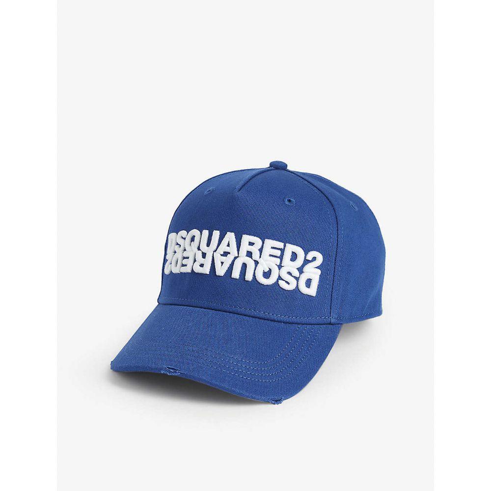 ディースクエアード DSQUARED2 ACC メンズ キャップ ベースボールキャップ 帽子【Mirrored logo cotton baseball cap】BLUE