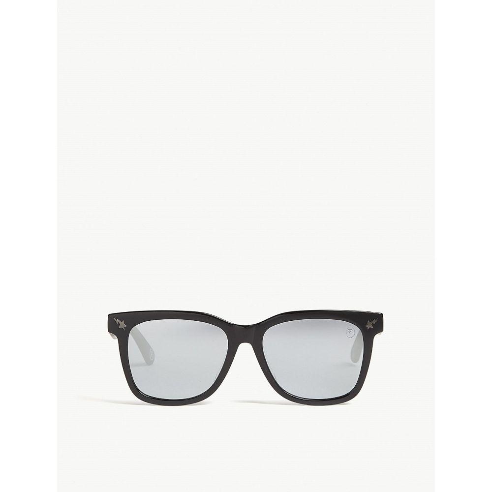 ベイプ BAPE レディース メガネ・サングラス スクエアフレーム【Parka s04 square-frame sunglasses】BROWN GREEN