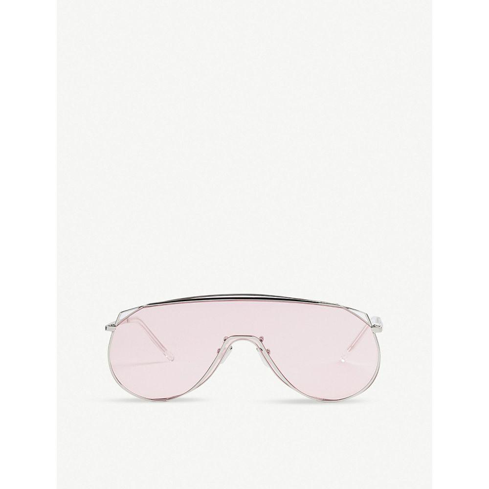 ジェントルモンスター GENTLE MONSTER レディース メガネ・サングラス 【Afix stainless steel sunglasses】SILVER/PINK