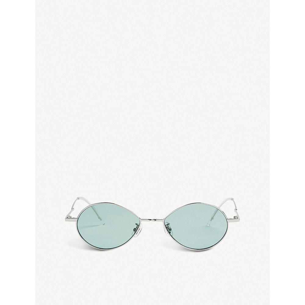 ジェントルモンスター GENTLE MONSTER レディース メガネ・サングラス 【Cobalt tinted stainless steel sunglasses】Silver green