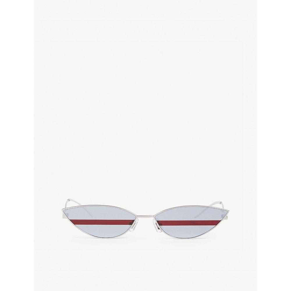 ジェントルモンスター GENTLE MONSTER レディース メガネ・サングラス 【Poxi stainless steel sunglasses】SILVER/RED
