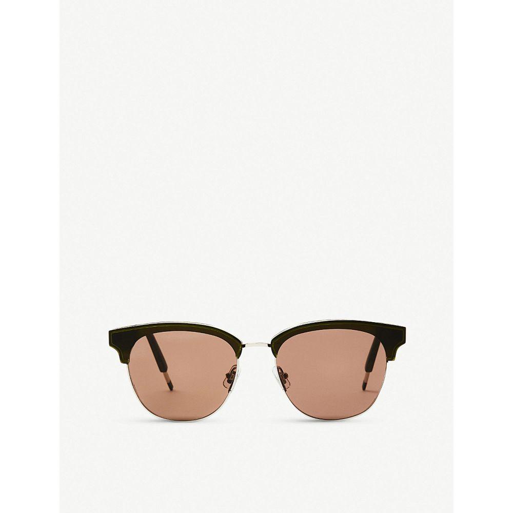 ジェントルモンスター GENTLE MONSTER レディース メガネ・サングラス 【Till Dawn acetate and stainless steel sunglasses】Khaki/olive