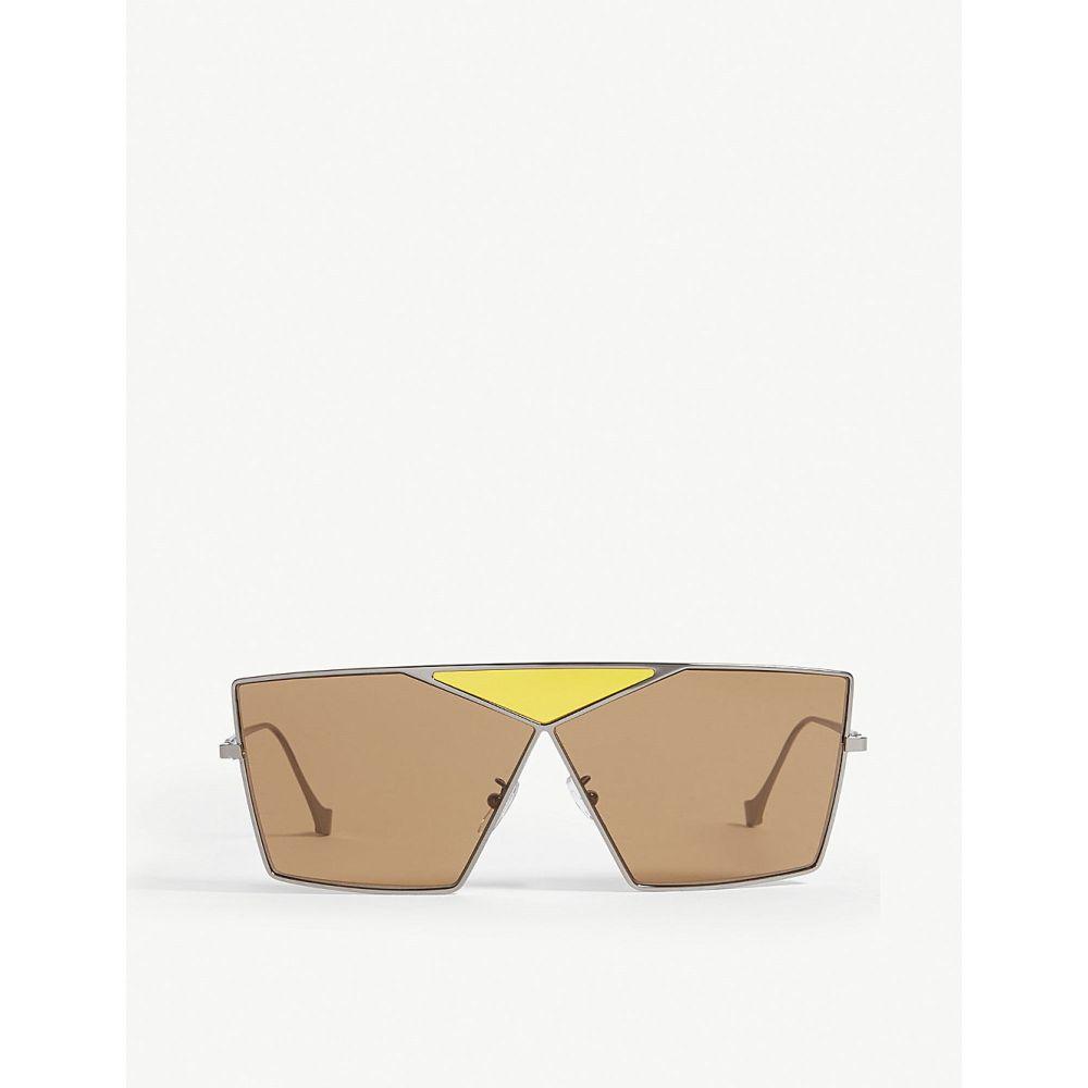 ロエベ LOEWE レディース メガネ・サングラス 【LW40011U Puzzle irregular-frame sunglasses】Grey