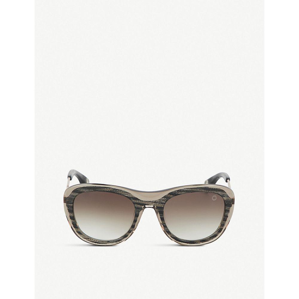 ブレイク クワハラ BLAKE KUWAHARA レディース メガネ・サングラス 【Chareau herringbone sunglasses】Brown multi