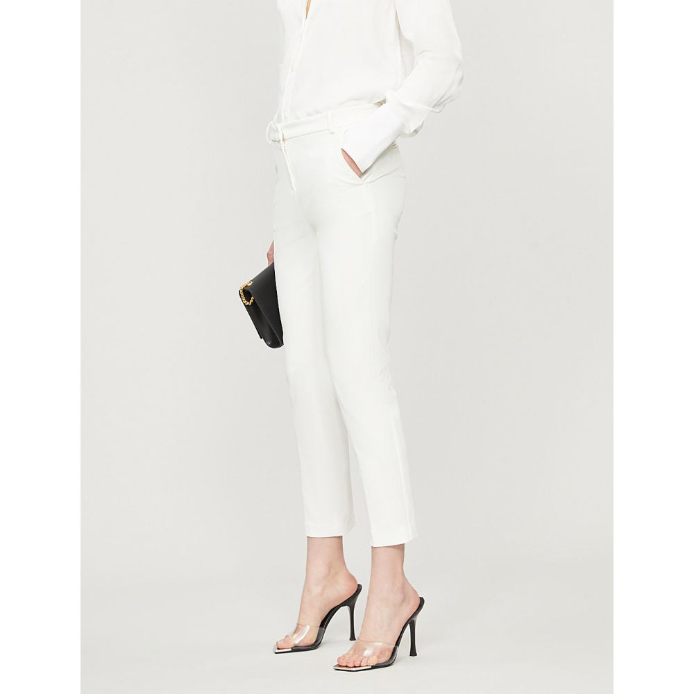 ピンコ PINKO レディース クロップド ボトムス・パンツ【Bello 66 high-rise skinny crepe cropped trousers】Bianco giglio