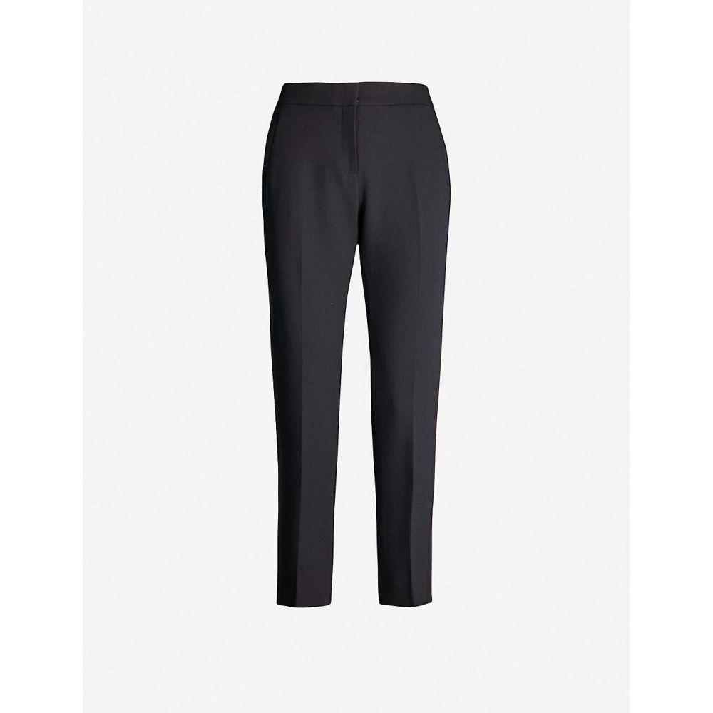 エムイーアンドイーエム ME AND EM レディース ボトムス・パンツ 【Grosgrain-trim tapered mid-rise trousers】Navy/navy