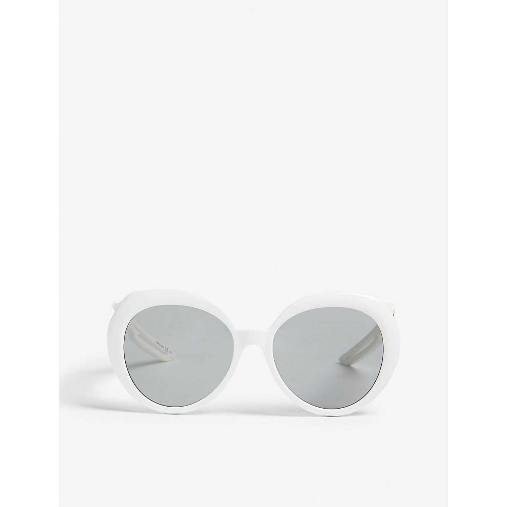 バレンシアガ BALENCIAGA レディース メガネ・サングラス ラウンド【BB0024S round-frame sunglasses】White