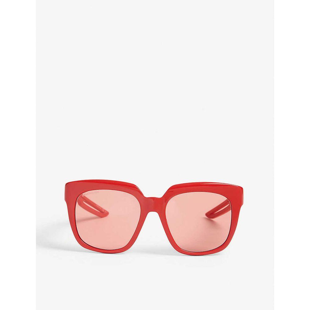 バレンシアガ BALENCIAGA レディース メガネ・サングラス スクエアフレーム【BB0025S square-frame sunglasses】Red