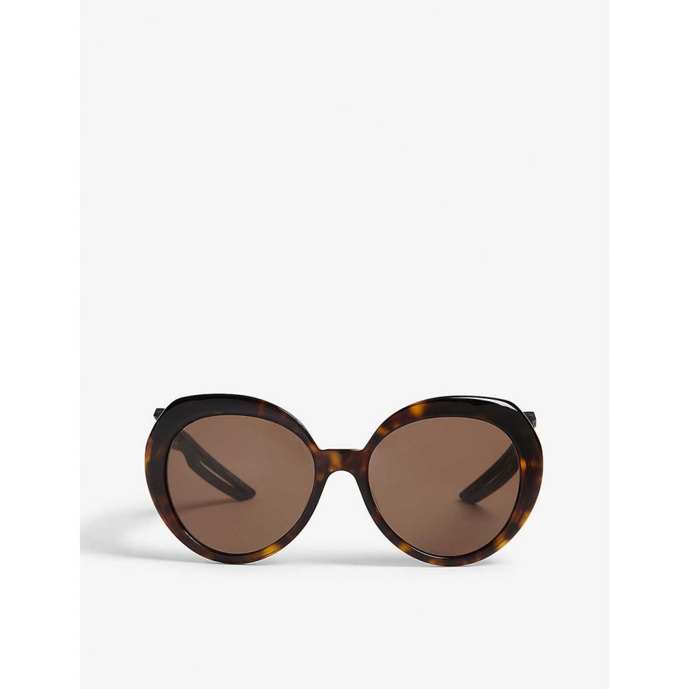 バレンシアガ BALENCIAGA レディース メガネ・サングラス ラウンド【BB0024S round-frame sunglasses】Havana