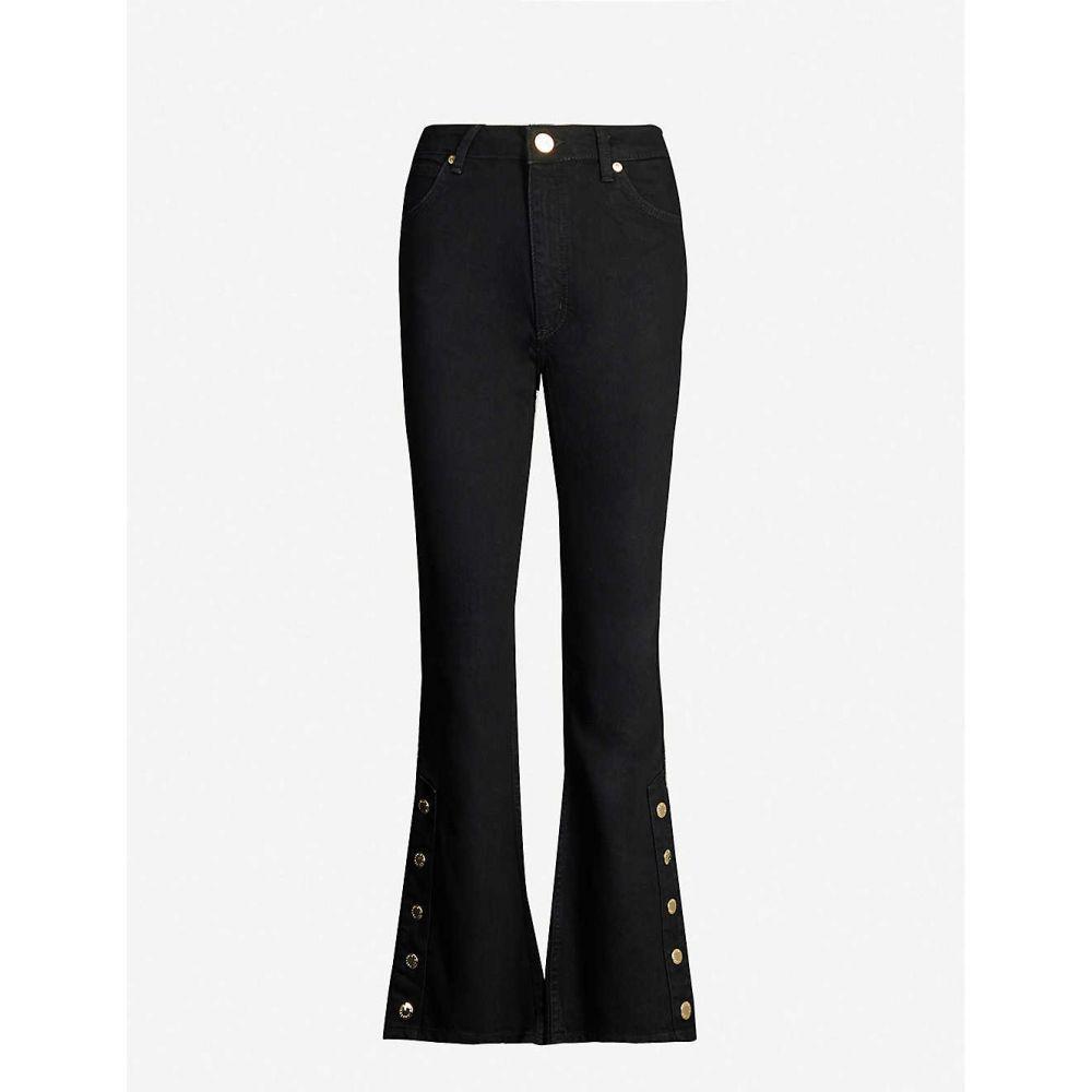 サンドロ SANDRO レディース ジーンズ・デニム ボトムス・パンツ【Buttoned-cuff flared high-rise jeans】Black