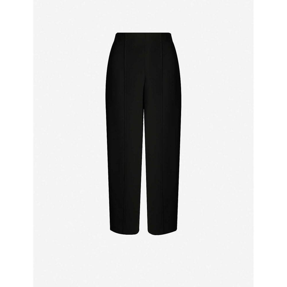 ホイッスルズ WHISTLES レディース ボトムス・パンツ 【Wide-leg high-rise crepe trousers】Black