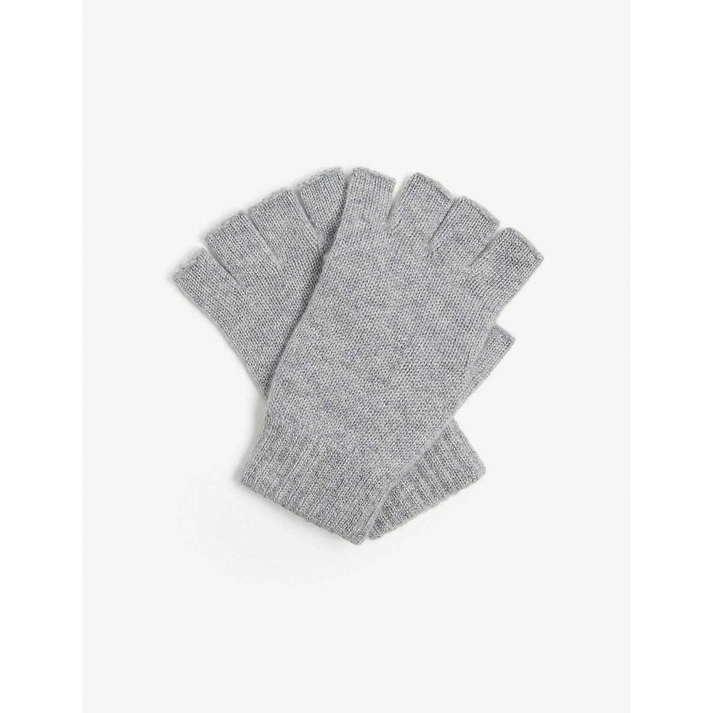 ジョンストンズ JOHNSTONS レディース 手袋・グローブ フィンガーレス【Fingerless cashmere gloves】SILVER