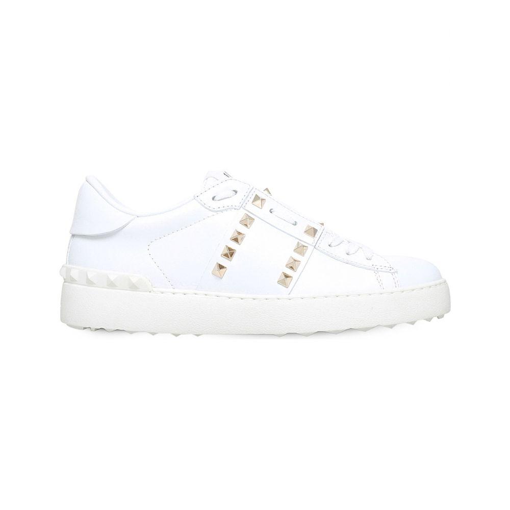 ヴァレンティノ VALENTINO レディース スニーカー シューズ・靴【Rockstud leather low-top trainers】White