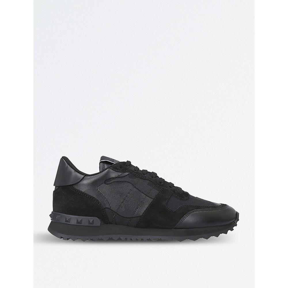ヴァレンティノ VALENTINO レディース スニーカー シューズ・靴【Camouflage-print leather trainers】Black