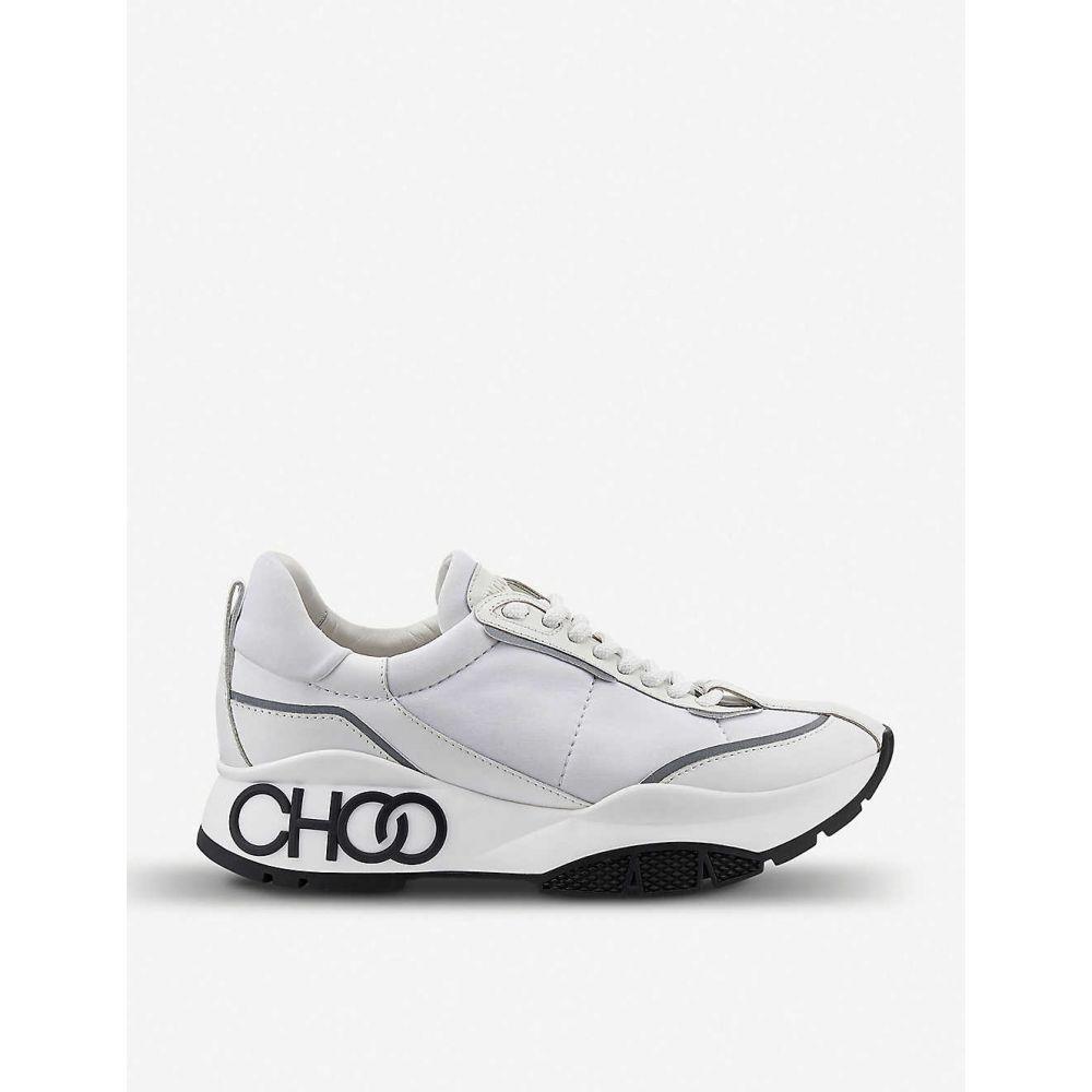ジミー チュウ JIMMY CHOO レディース スニーカー シューズ・靴【Raine neoprene-panelled leather trainers】White