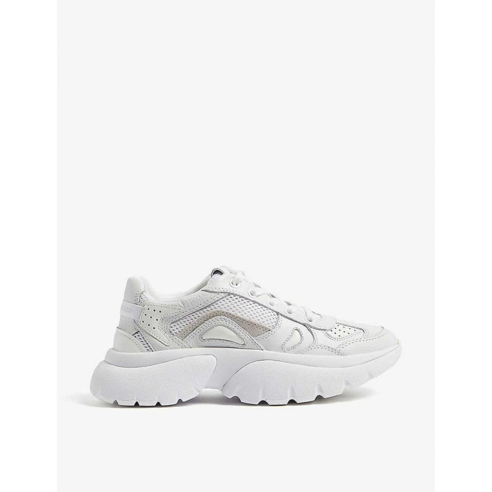 マージュ MAJE レディース スニーカー シューズ・靴【Faster leather trainers】White