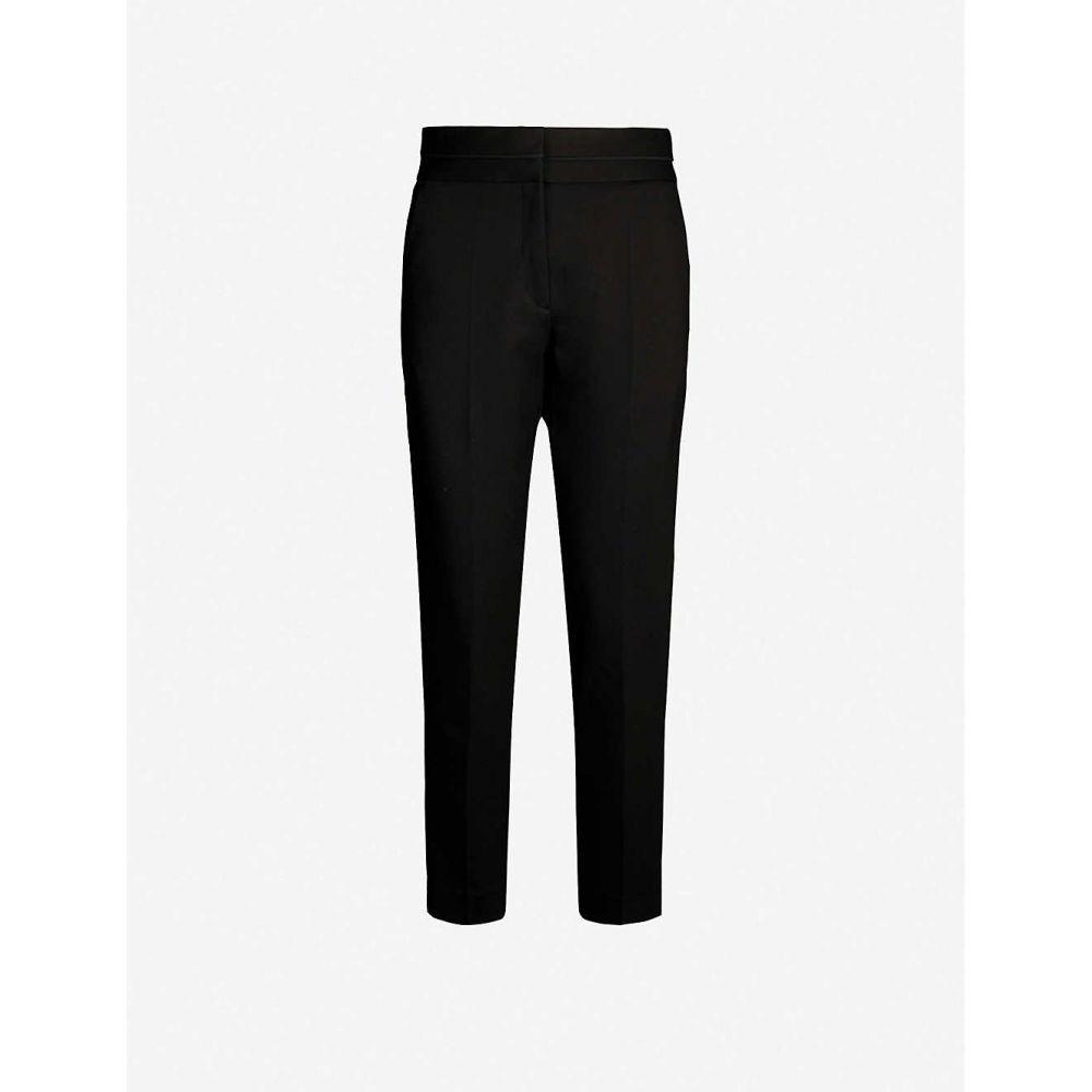 サンドロ SANDRO レディース ボトムス・パンツ 【Tapered high-rise stretch-woven trousers】Black