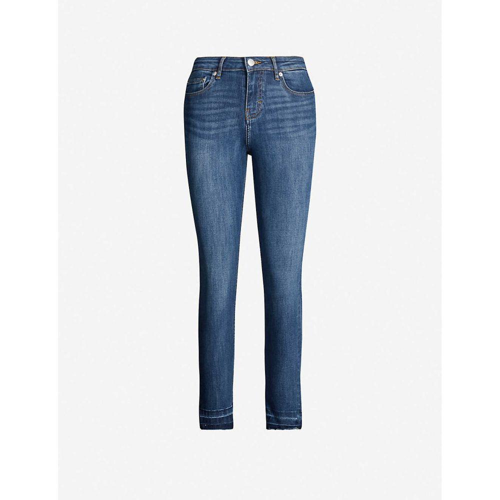 マージュ MAJE レディース ジーンズ・デニム ボトムス・パンツ【Presto high-rise cropped straight-leg jeans】Blue
