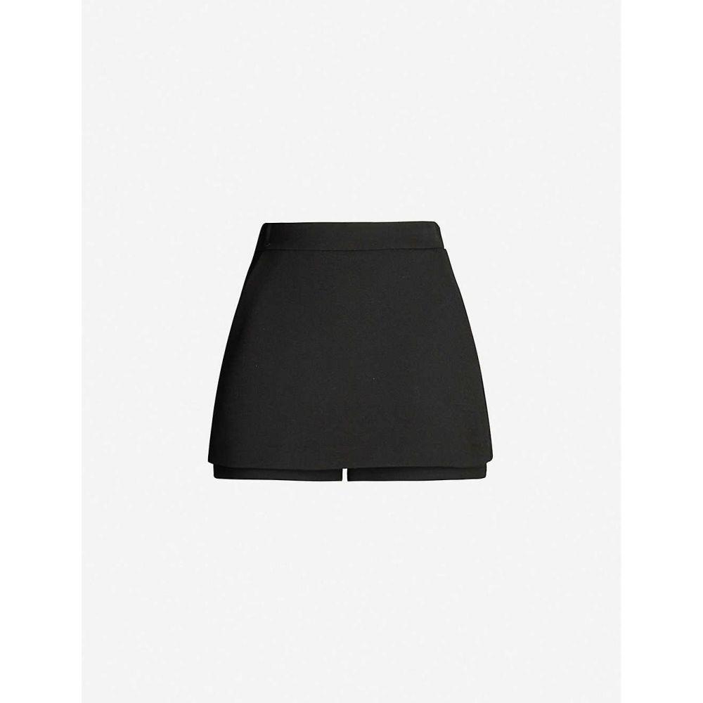 マージュ MAJE レディース ショートパンツ ボトムス・パンツ【High-rise crepe shorts】Black