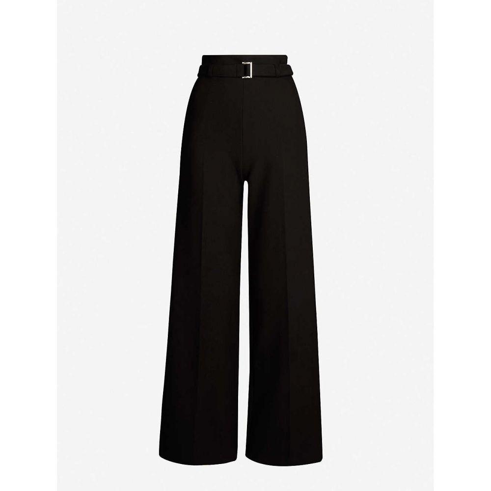 マージュ MAJE レディース ボトムス・パンツ 【Parc wide-leg high-rise crepe trousers】Black