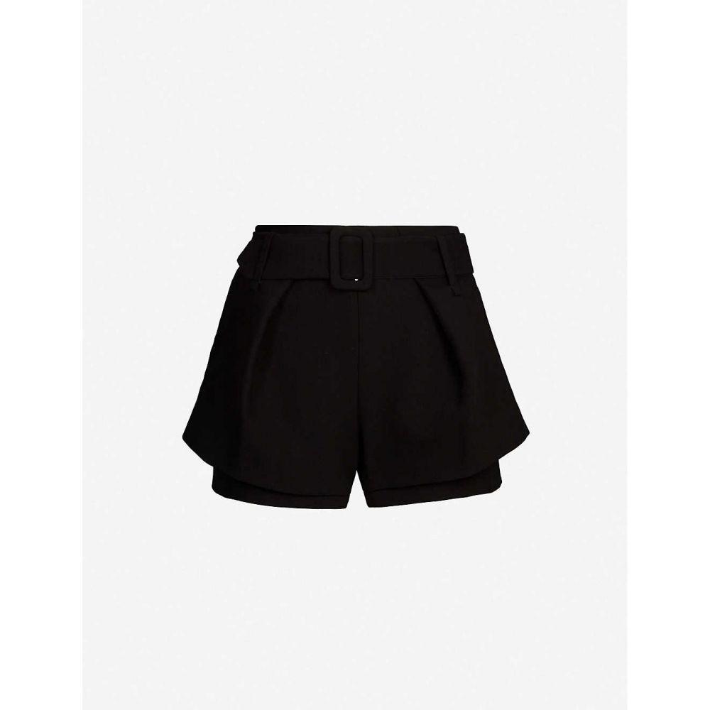 マージュ MAJE レディース ショートパンツ ボトムス・パンツ【Overlay-detail stretch-twill shorts】Black