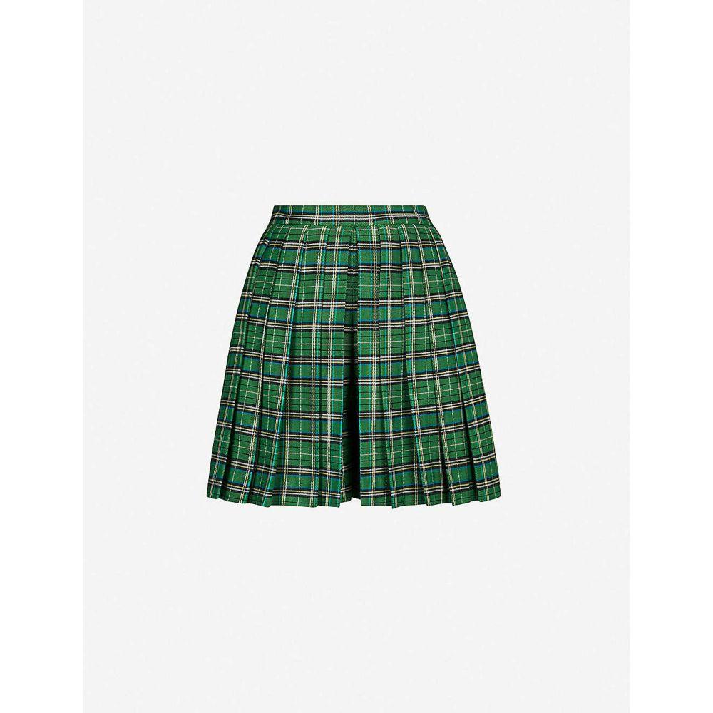 マージュ MAJE レディース ショートパンツ ボトムス・パンツ【Tartan stretch-woven shorts】Green