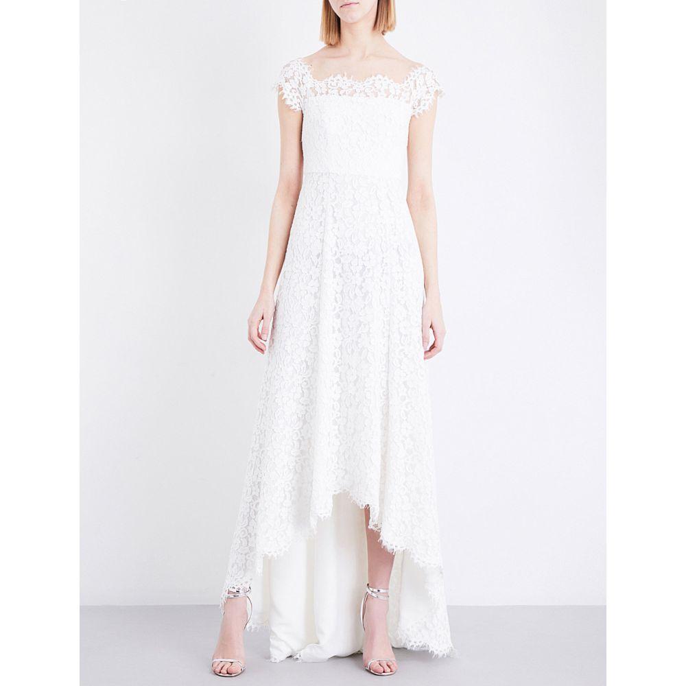 ホイッスルズ WHISTLES レディース パーティードレス ウェディングドレス ワンピース・ドレス【Rose off-the-shoulder floral-lace wedding dress】Cream
