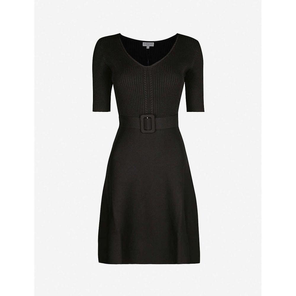 クローディ ピエルロ CLAUDIE PIERLOT レディース ワンピース ミニ丈 ワンピース・ドレス【Mangalah19 belted knitted mini dress】Black