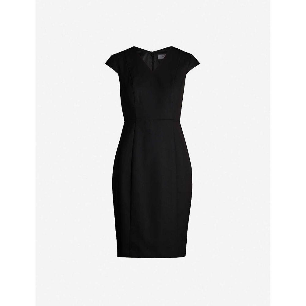 リース REISS レディース ワンピース ミドル丈 ワンピース・ドレス【Hartley tailored wool-blend midi dress】Black