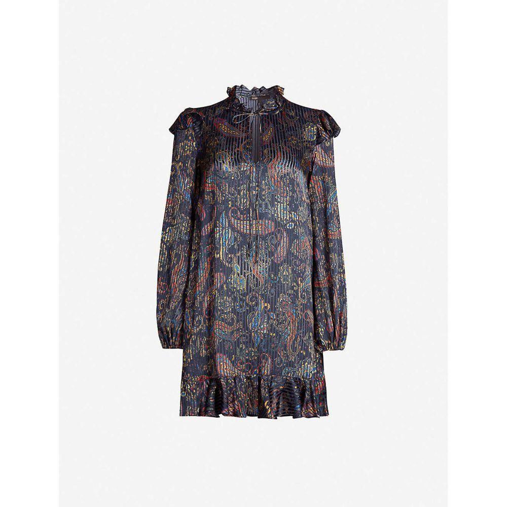 マージュ MAJE レディース ワンピース ワンピース・ドレス【Paisley-print satin dress】Navy