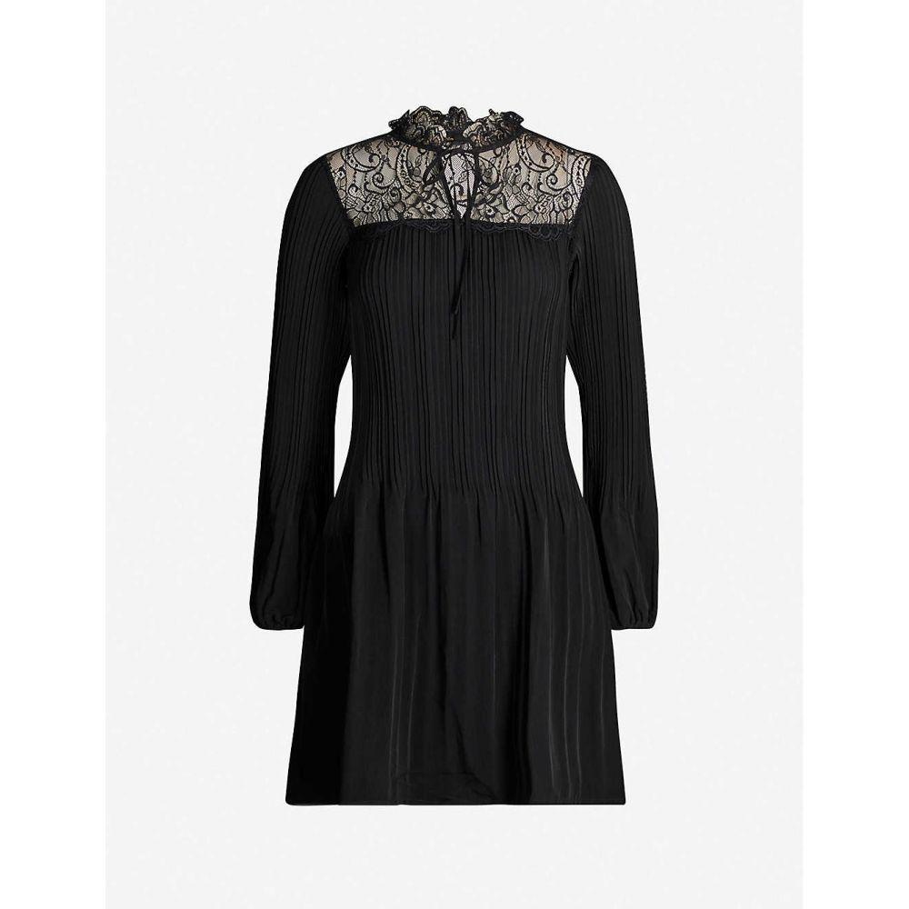 マージュ MAJE レディース ワンピース ワンピース・ドレス【Lace-panel woven dress】Black