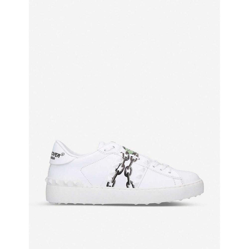 ヴァレンティノ VALENTINO レディース スニーカー シューズ・靴【Rockstud floral-print leather low-top trainers】White