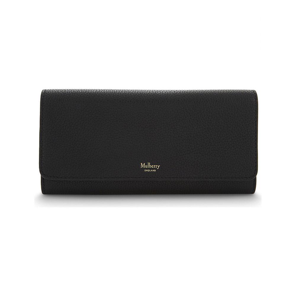 マルベリー MULBERRY レディース 財布 【Grained leather continental wallet】Black