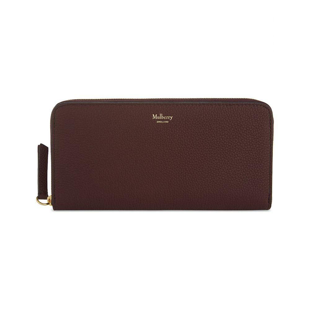 マルベリー MULBERRY レディース 財布 【8 CC grained leather zip-around wallet】Burgundy